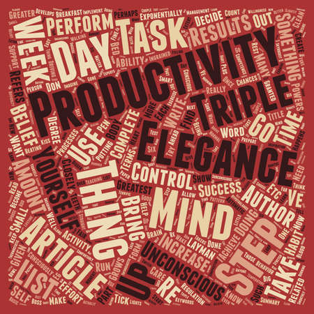 How To Triple Your Productivity In 1 Week From Now text background wordcloud concept