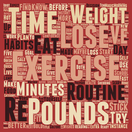 shedding: Lose Pounds exercise text background wordcloud concept