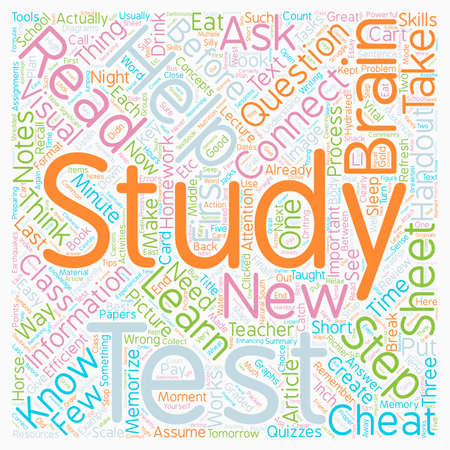 How To Study For A Test text background wordcloud concept