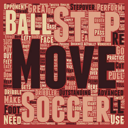 ball step move soccer text background wordcloud concept