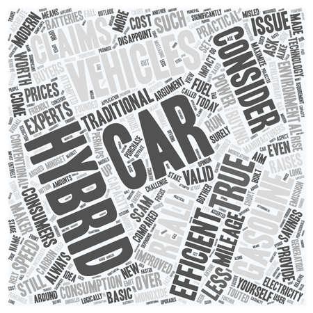hybrid car text wordcloud concept