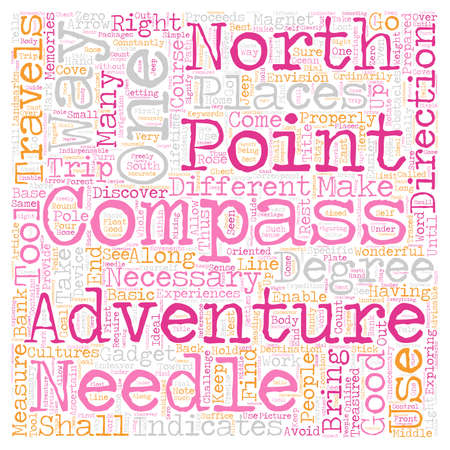 How To Use A Compass text background wordcloud concept
