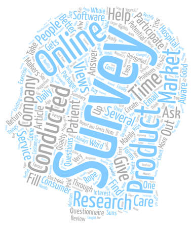 How You Can Benefit With An Online Survey text background wordcloud concept