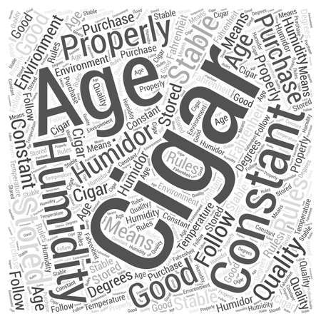 How To Properly Age A Cigar Word Cloud Concept