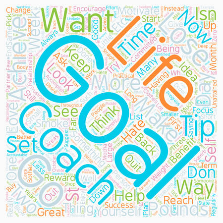 How To Set And Achieve Your Goals text background wordcloud concept