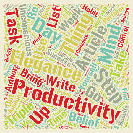 Triple Your Productivity text background wordcloud concept
