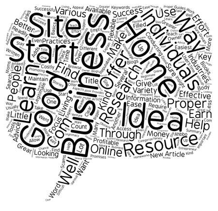 flexible business: How To Research Home Business Ideas text background wordcloud concept