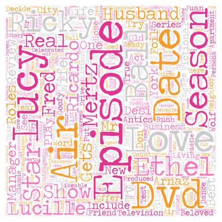 I Love Lucy Season 4 DVD Review text background wordcloud concept