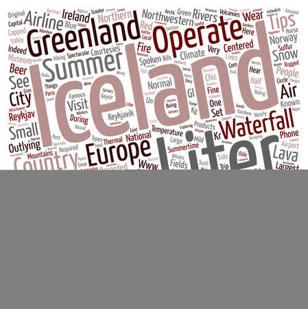 northern ireland: Iceland text background wordcloud concept