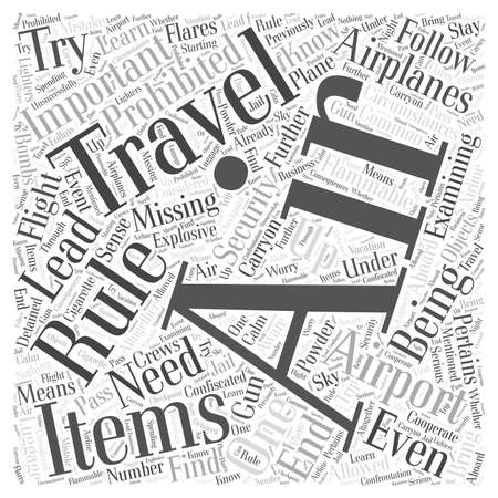 must: Important Air Travel Rules You Must Know Word Cloud Concept