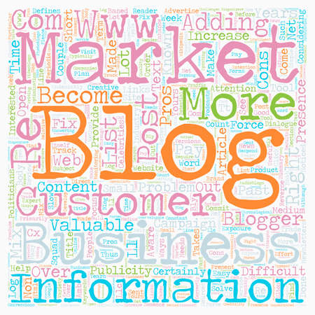 Is A Blog Right For Your Business text background wordcloud concept