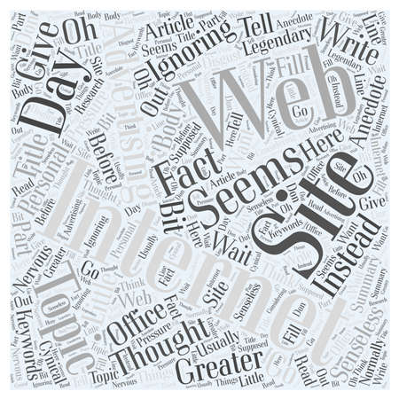 web site: Internet Web Site Advertising Legendary Word Cloud Concept