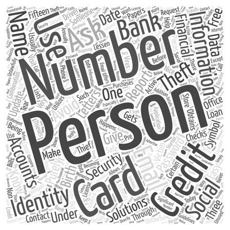 identity theft solution Word Cloud Concept Illustration