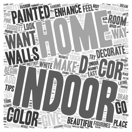 d cor: Indoor Enhance The Decor Of Your Home text background wordcloud concept Illustration