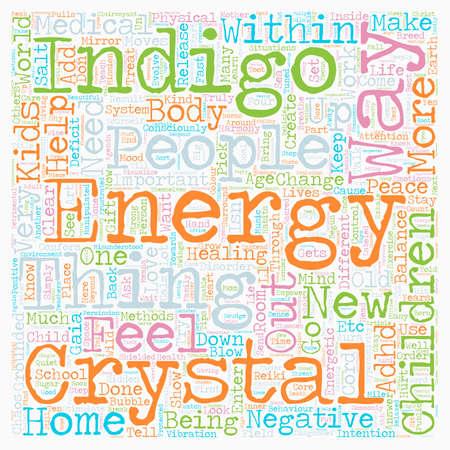 Indigo Crystal Phenomena ADD ADHD Children text background wordcloud concept