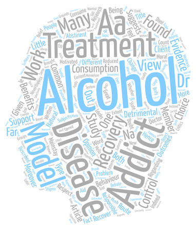 Is Alcoholism a Disease text background wordcloud concept