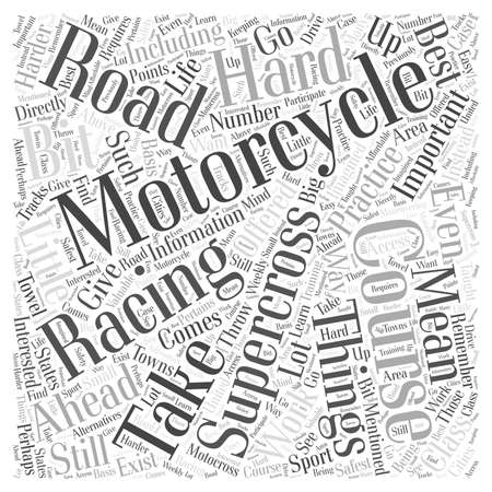 supercross: Interested in Supercross Racing Take a Course Word Cloud Concept Illustration