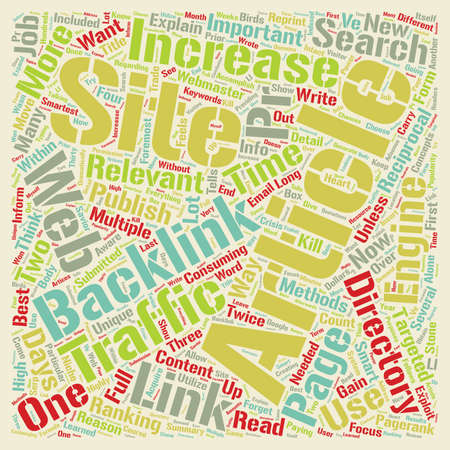 Increase Web Site Traffic With Articles text background wordcloud concept