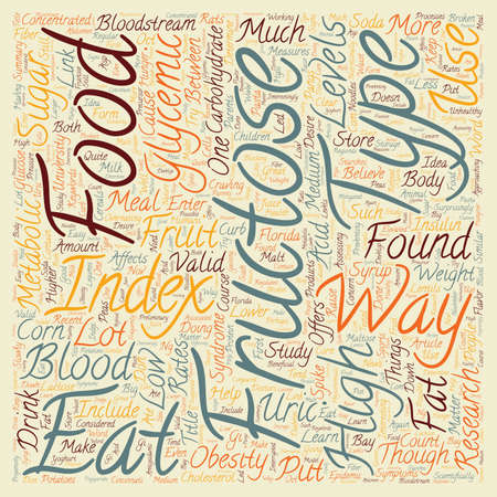 Is Fructose The Cause Of Obesity text background wordcloud concept Vettoriali