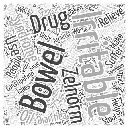 irritable bowel syndrome: Irritable Bowel Syndrome Zelnorm Drug Word Cloud Concept Illustration