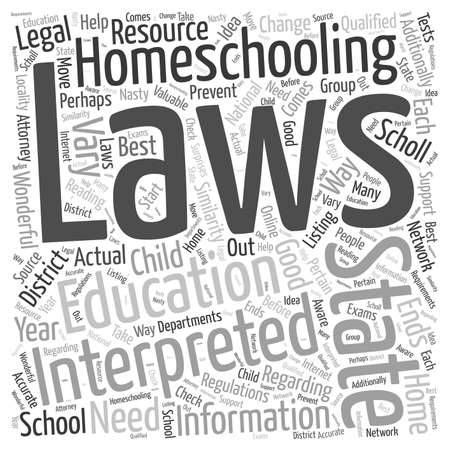 is homeschooling legal Word Cloud Concept Ilustrace