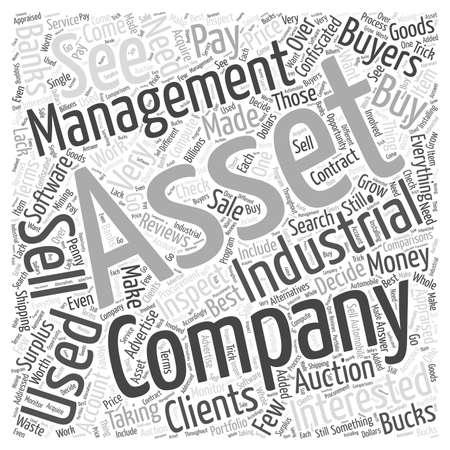 Industrial Asset Management Word Cloud Concept
