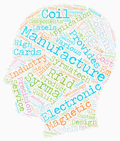Industrial Electronic Design text background wordcloud concept Illustration