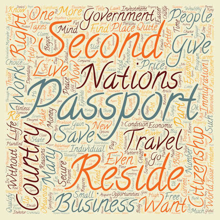 Is A Second Passport A Second Chance text background wordcloud concept