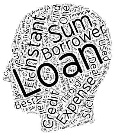 financially: Instant Loans Fast Financial Assistance text background wordcloud concept Illustration