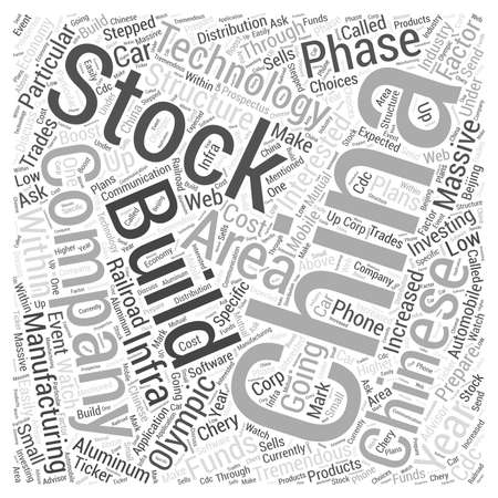 Investing in China Word Cloud Concept