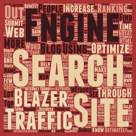 Increase Sales Traffic through Traffic Blazer text background wordcloud concept