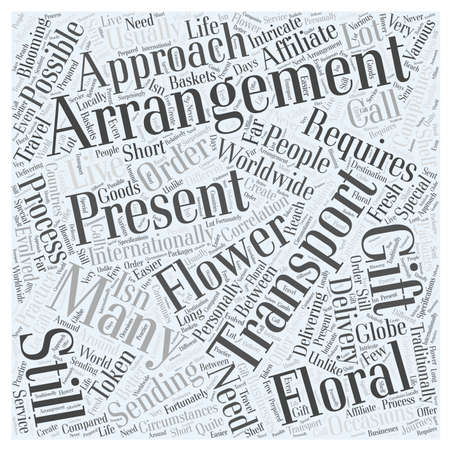 internationally: international flower delivery Word Cloud Concept
