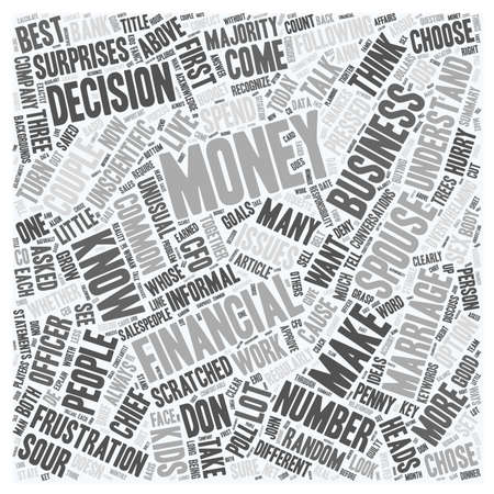 If Your Marriage Was A Business Who Would Be The Chief Financial Officer text background wordcloud concept