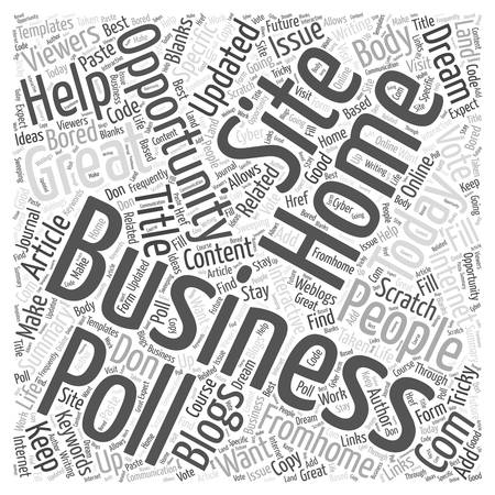 business opportunity: Internet home business opportunity Word Cloud Concept