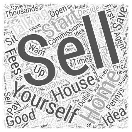 commissions: Is it a Good Idea to Sell Your Home Yourself Word Cloud Concept