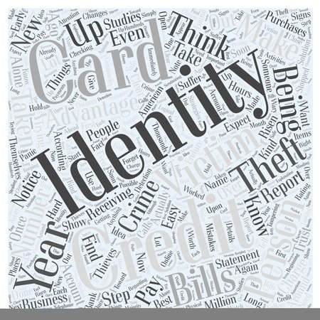 identity theft victims Word Cloud Concept