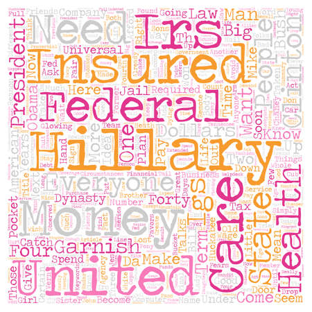 IRS Welcomes Hillary s IGS text background wordcloud concept