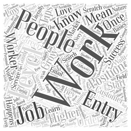 literally: JH entry level jobs Word Cloud Concept