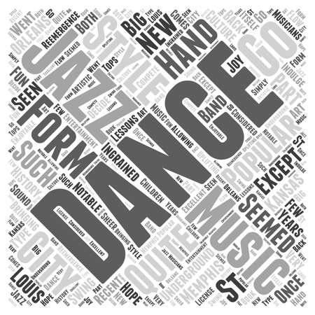 Jazz as Dance Word Cloud Concept Illusztráció
