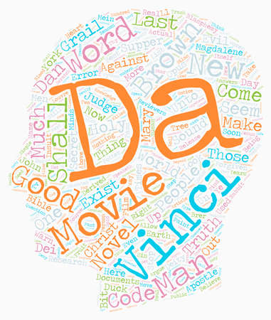 Is The Da Vinci Code Cracked Or Just the People Who Believe It text background wordcloud concept