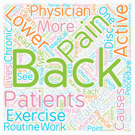 Is Lower Back Pain A Barrier To Your Fitness Routine text background wordcloud concept