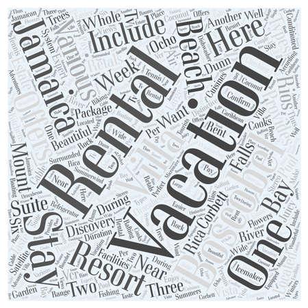 jamaica vacation rentals Word Cloud Concept