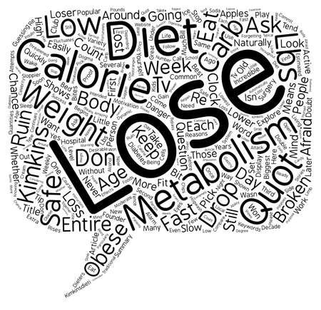 È il vostro metabolismo testo rotto wordcloud sfondo