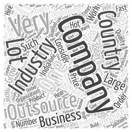 it outsourcing Word Cloud Concept