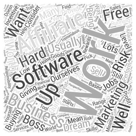 Is It Worth Buying Affiliate Software Word Cloud Concept