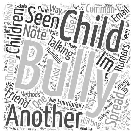 Is Your Child a Bully Word Cloud Concept