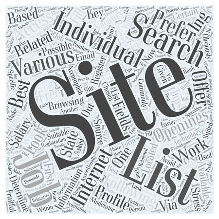 listings: JH IT job search tips Word Cloud Concept