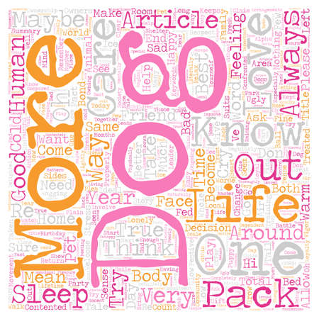 It s a Dog s Life text background wordcloud concept