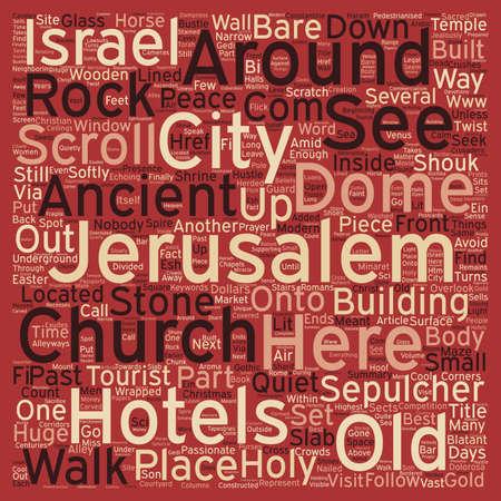 overlook: Jerusalem in just 3 days text background wordcloud concept