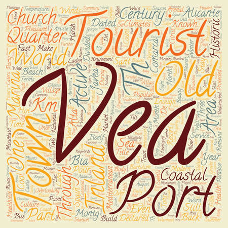 port of spain: Javea A Coastal Paradise text background wordcloud concept